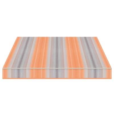 Tenda da sole a bracci estensibili manuale TEMPOTEST PARA' L 3 x H 2 m Cod. 5001/26 arancione e azzurro