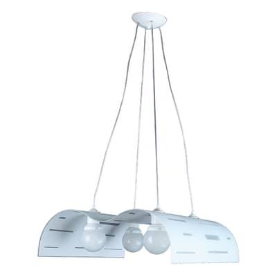 Lampadario Classico Betsy bianco, grigio in metallo, D. 60 cm, L. 60 cm, 4 luci, NOVECENTO
