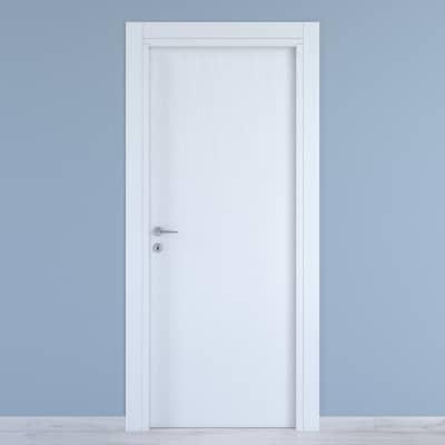 Porta a battente Renoir bianco venato L 80 x H 210 cm reversibile