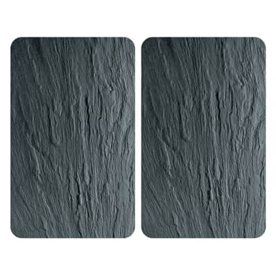 Piastra coprifuoco Ardesia grigio L 30 x P 52 cm 2 pezzi