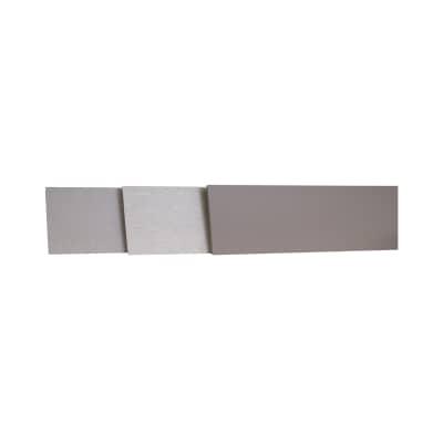 Alzatina Porfido laminato grigio chiaro L 100 x Sp 10 cm