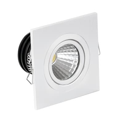 Faretto fisso da incasso orientabile quadrato Sylvie in alluminio, bianco, 4.5x6cm LED integrato Lampadina non inclusaW 260LM IP20
