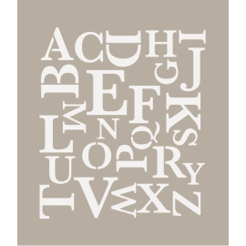 Stencil Alfabeto moderno
