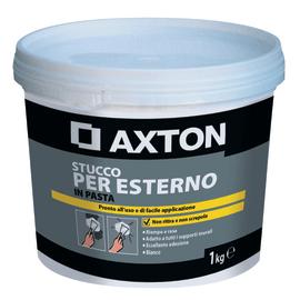 Stucco in pasta Axton  per esterno liscio bianco 1 kg