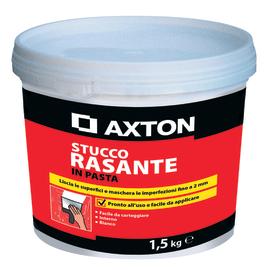 Stucco in pasta Axton Rasante liscio bianco 1,5 kg