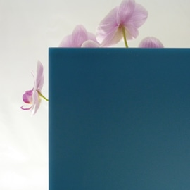 Vetro acidato verniciato blu 4 mm