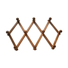 Appendiabiti da parete 10 posti marrone