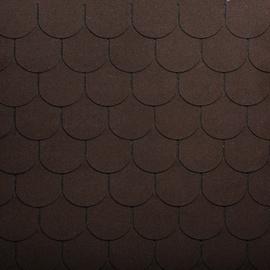 Tegole canadesi coda di castoro Bardoline Classic marrone in bitume 100 x 34  cm, spessore 3 mm