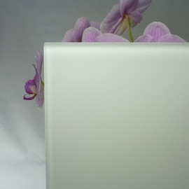 Vetro acidato verniciato bianco 4 mm
