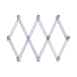 Appendiabiti da parete 10 posti bianco