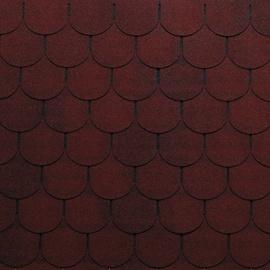 Tegole canadesi coda di castoro Bardoline Pro rosso in bitume 100 x 34  cm, spessore 3,4 mm