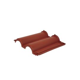 Tegola etrusca 9 pezzi, viti di montaggio incluse, colore rosso