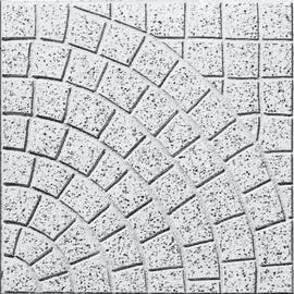 Piastrella 40 x 40 cm Ventaglio grigio, spessore 4 cm