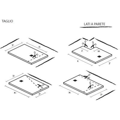 Piatto doccia resina strato 120 x 80 cm bianco prezzi e for Piatto doccia 70x100 leroy merlin
