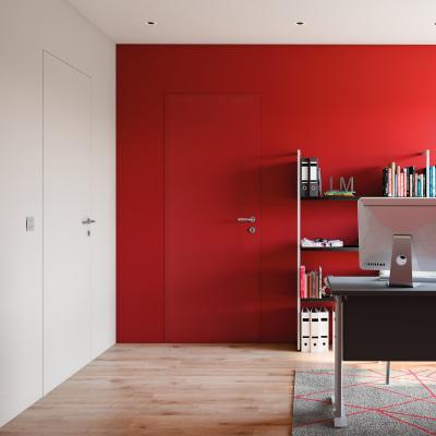 Porta da interno battente pollock filomuro grezza 60 x h 210 cm reversibile prezzi e offerte - Porte interno leroy merlin ...