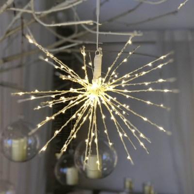TWIGBall luminoso 160 minilucciole Led classica gialla L 30 cm