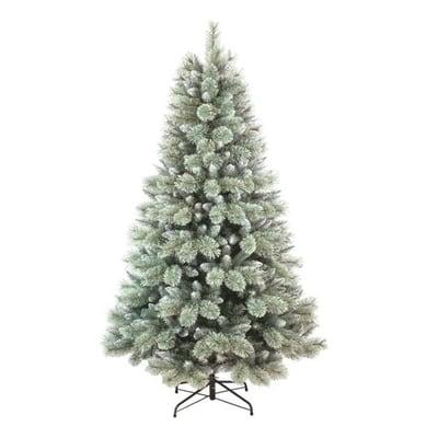 Albero di Natale artificiale Glitter Frost H 210 cm