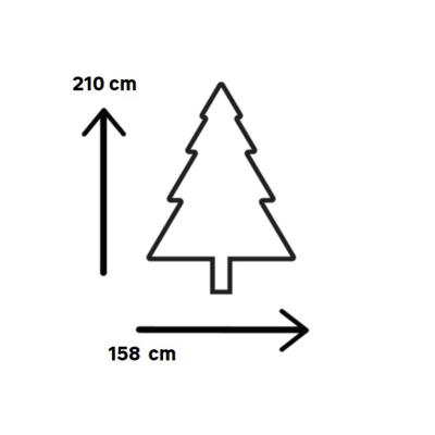 Albero di Natale artificiale Albero Victoria 210 cm H 210 cm