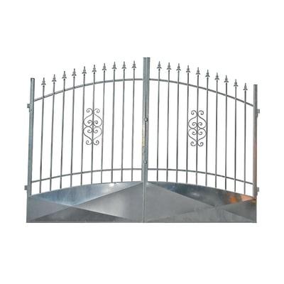 Cancello zincato etna l 350 x h 180 210 cm prezzi e for Grigliati in ferro leroy merlin
