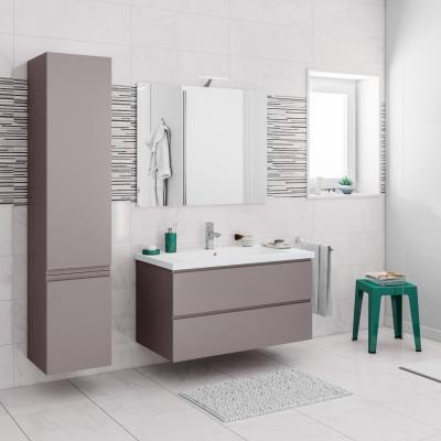 Mobile bagno gola grigio l 95 cm prezzi e offerte online for Plafoniera bagno leroy merlin