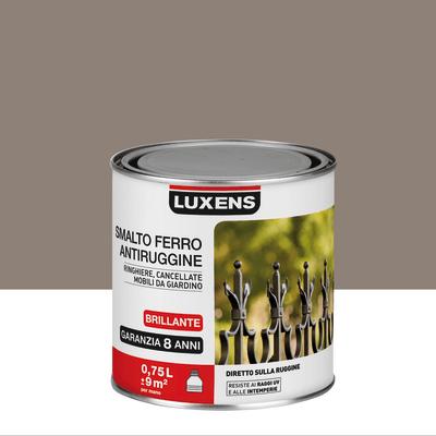 Smalto per ferro antiruggine Luxens marrone talpa brillante 0,75 L