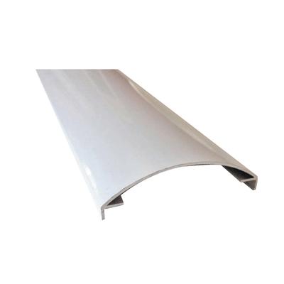 Profilo perimetrale ReadyBlock GlassCover curvo lucido alluminio 2,5 m, 8,53 x 2,33 cm
