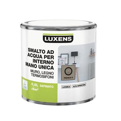 Smalto manounica Luxens all'acqua Marrone Trench 3 satinato 0.5 L