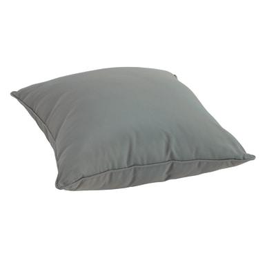 Cuscino dorso grigio 60 x 60 cm