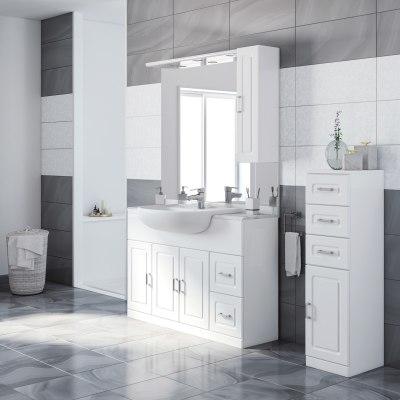 Mobile bagno paola bianco l 120 cm prezzi e offerte online leroy merlin - Mobile bagno 120 cm ...