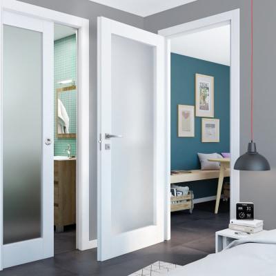 Porta da interno battente Avior bianco 70 x H 210 cm sx