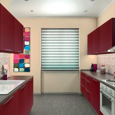 Cucina Delinia Newport rosso