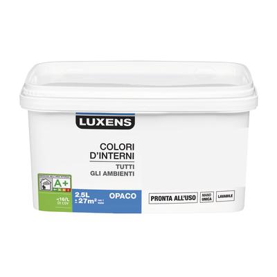 Idropittura lavabile Mano unica Grigio Sasso 5 - 2,5 L Luxens