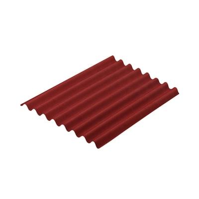 Lastra ondulata Onduline Easyline rosso in bitume 76 x 100  cm, spessore 2,6 mm