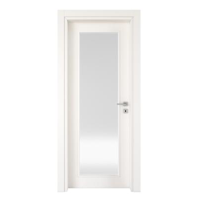 Porta da interno battente Moma Vetro bianco 80 x H 210 cm sx