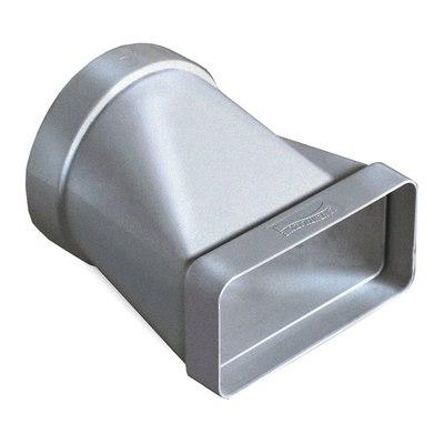 Raccordo piatto/tondo Giunto orizzontale ABS Ø 100 rettangolare steel L 6 - 12 cm