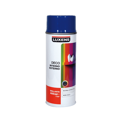 Smalto spray Deco Luxens blu genziana RAL 5010 brillante 400 ml