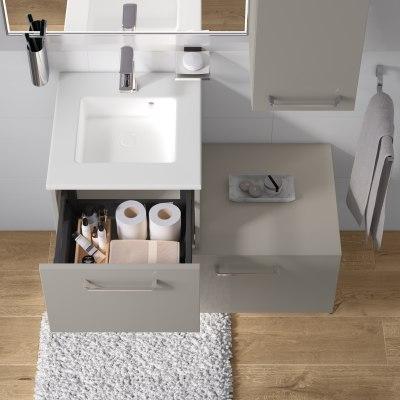 Mobile bagno Neo Line L 45 x P 48 x H 32 cm 1 cassetto grigio chiaro