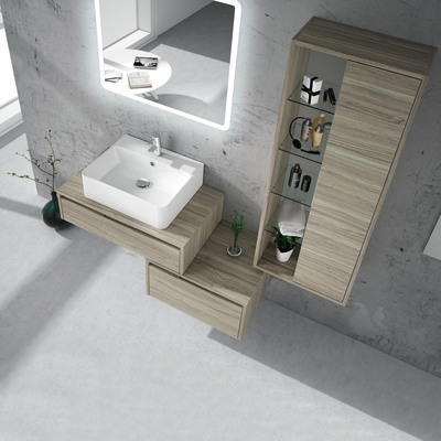 Mobile bagno Trevi olmo rousseau L 160 cm
