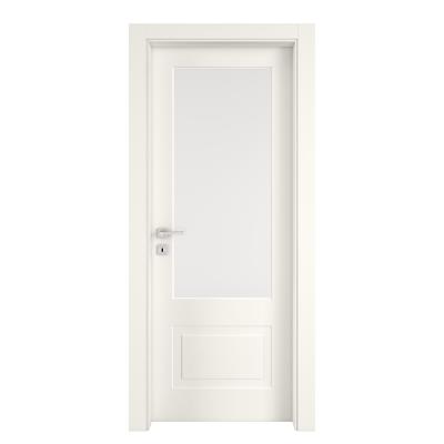 Porta da interno battente Shibuya Vetro Bianco 90 x H 210 cm dx