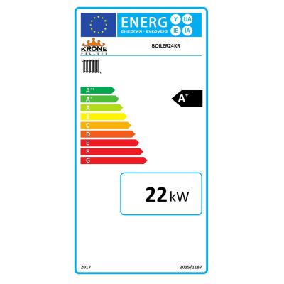 Caldaia a pellet Krone BOILER24KR 21,51 kW arancio e grigio