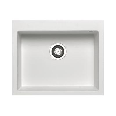 Lavello incasso Voyager bianco L 61 x P  50 cm 1 vasca