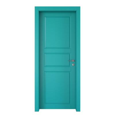 Porta da interno battente New York azzurro 60 x H 210 cm sx