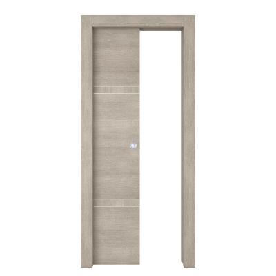 Porta da interno scorrevole Chasing rovere chiaro 80 x H 210 cm sx