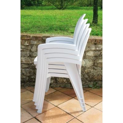 Sedia impilabile Creta bianco