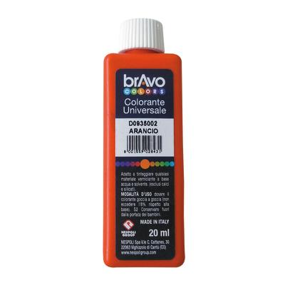 Colorante iperconcentrato ad acqua Bravo arancione 20 ml