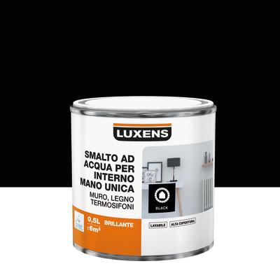 Smalto manounica Luxens all'acqua Nero brillante 0.5 L