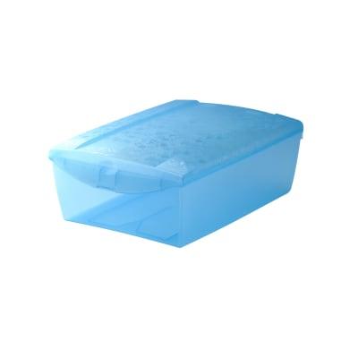 Scatola Scarpabox L 26 x P 36 x H 13,5 cm azzurro