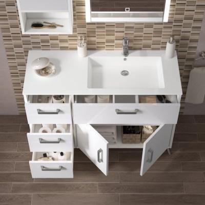 Mobile bagno Brae bianco L 116,5 cm