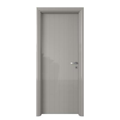 Porta da interno battente Pvc grey grigio 60 x H 210 cm sx