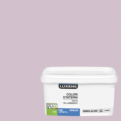 Idropittura lavabile Mano unica Viola Melanzana 6 - 2,5 L Luxens